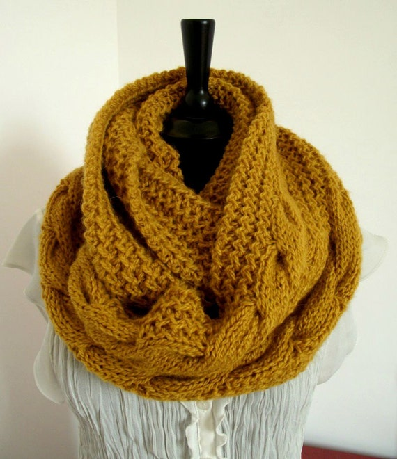 Knitting Pattern Scarf Chunky Winter Knit Scarf Pattern Etsy