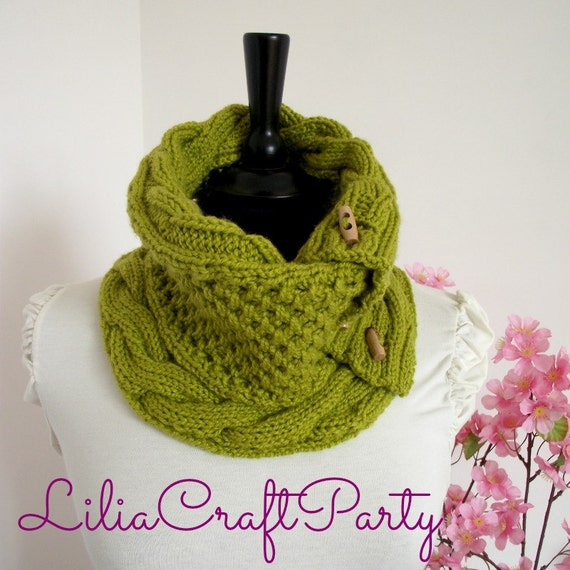 Knitting Pattern Cowl Alice Cowl Pattern Scarf Cowl With Etsy