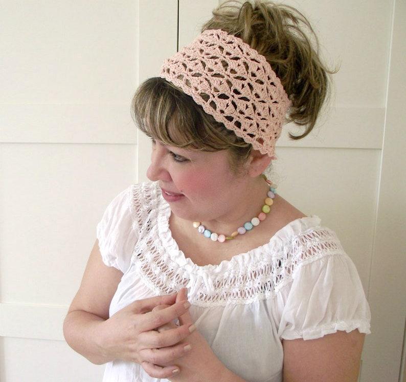 CROCHET PATTERN HEADBAND lace headband pattern Christy image 0