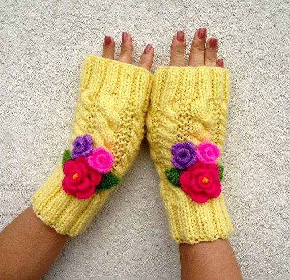 Knitting Pattern Mittens Gloves Knit Fingerless Gloves With Etsy