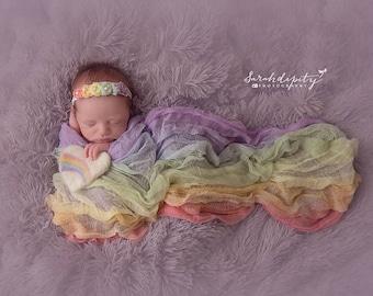 Rainbow Wrap Newborn Photos, Newborn Wrap Rainbow Baby, Rainbow Baby Photo Prop, Rainbow Baby Newborn Prop, Rainbow Baby Wrap
