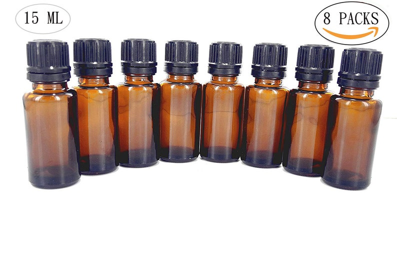 f66fbf172c75 Essential Oil Bottles - Amber Glass Bottles For Essential Oils. Caps And  Euro Droppers Included, H 3