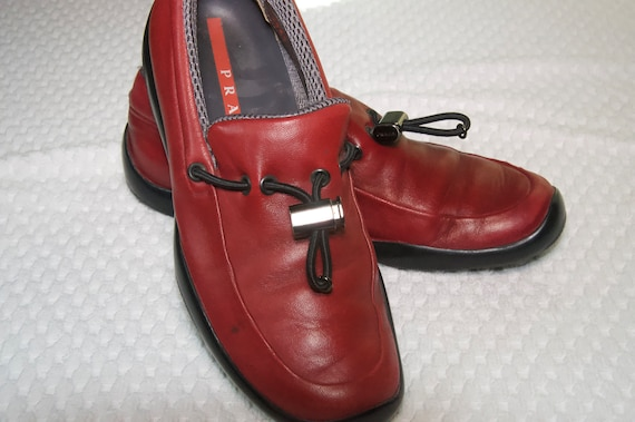 Prada Red Leather Shoes - image 4