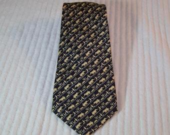 Vintage Jim Thompson Thai Silk Elephant Tie