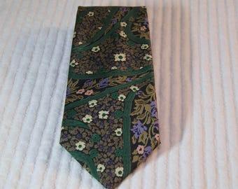 Vintage Jim Thompson Thai Silk Floral Tie