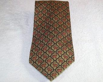 Vintage Jim Thompson Silk Elephant Tie