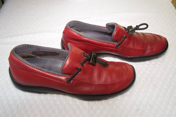 Prada Red Leather Shoes - image 3
