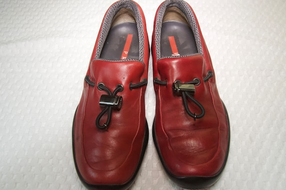 Prada Red Leather Shoes - image 1