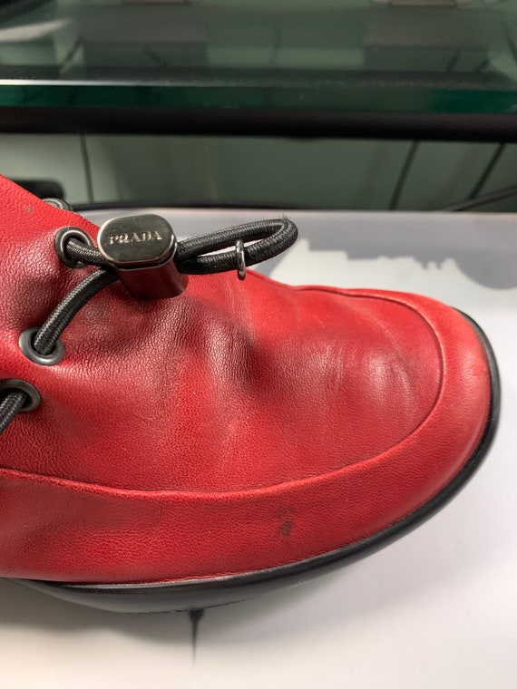 Prada Red Leather Shoes - image 10