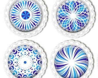 Fridge,Refrigerator,Locker,Office Magnets, Mandala, Kaleidoscope Magnets, Kitchen Magnets Set of 4