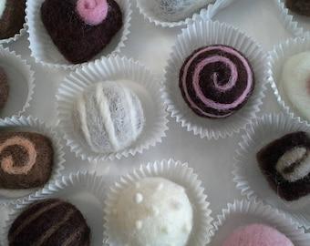 Needle Felting Kit - Calorie FREE Chocolates- Beginner's Felting Kit - Holiday Kit