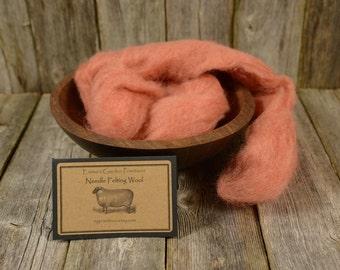 Lily - Needle Felting  Wool - Natural Wool Roving- Needle Felting Kit Wool