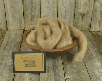 NEW Walnut - Needle Felting  Wool - Natural Wool Roving - Wet Felting Wool-Nuno Felting-Spinning
