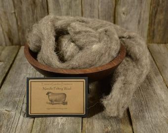 Cobblestone - Organic Needle Felting  Wool - Natural Wool Roving - Wet Felting Wool-Spinning