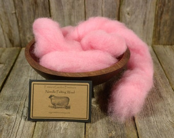 Peony- Needle Felting  Wool - Natural Wool Roving -Wet Felting Wool-Nuno Felting