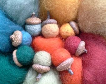 """NEW """"SECRET"""" Garden Sampler-Needle Felting Wool -Wet Felting Wool"""