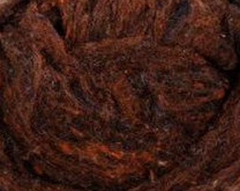 NEW-Needle Felting Textured Wool-Roasted Chestnuts-Wet Felting-Spinning-Peace Fleece