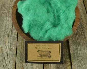 Needle Felting  Wool - Spring Green -Wet Felting Wool