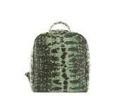 Handmade leather backpack JOE small backpack in turquoise green, lizard tejus (Italian calfskin - FREE shipping)