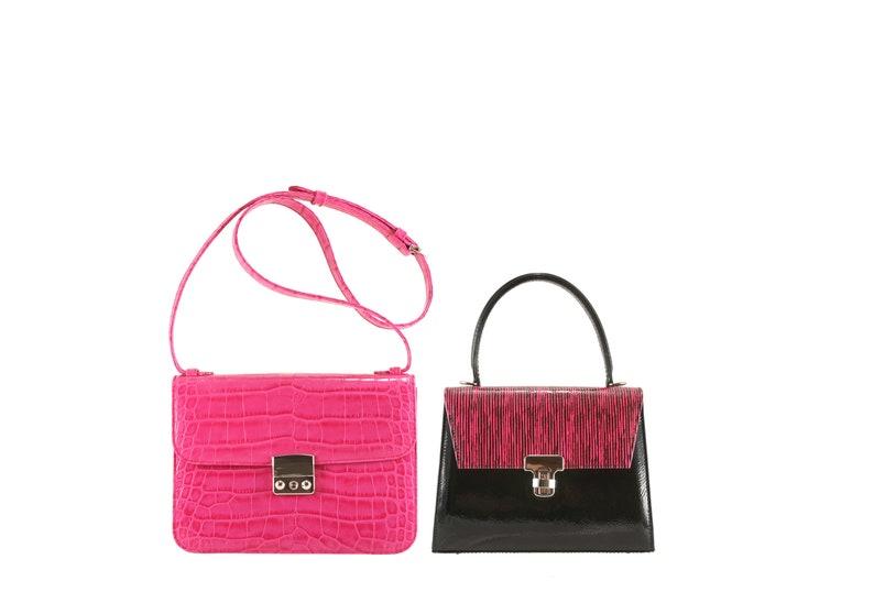 5f46929a4 Pink crossbody bag AMALIA in croc crocodile x JASMIN x-small | Etsy
