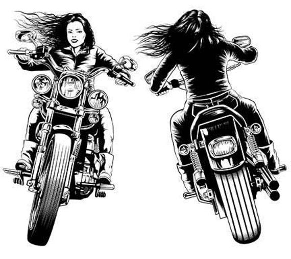Biker chick pics Biker Chick Etsy