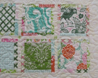 Pretty Squares Quilted Table Runner Freespirit Up Parasol