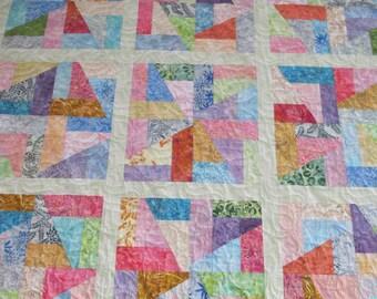 Lap Quilt Watercolor Batiks
