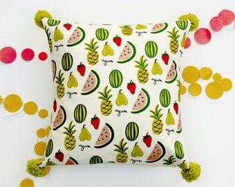 Foodie 18 inch removable throw pillow cover case eco friendly baby children nursery gift