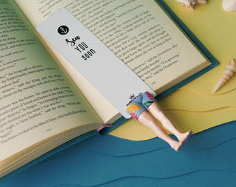 Mr. Hot bookmark. Mister Hot unusual gift for trendy.