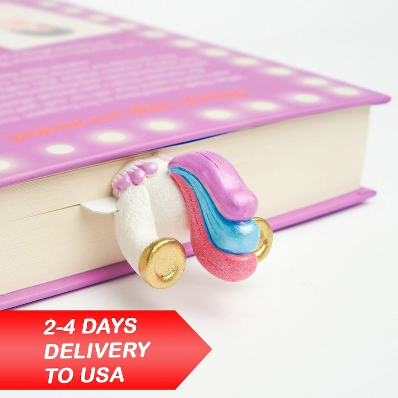 Unicorn Tail Bookmark Birthday Gift For Her Mothers Day