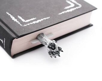 Dire wolf bookmark. Game of Thrones bookmark creative gift for fan, for men, him, dad, boyfriend, teen boy, brother.