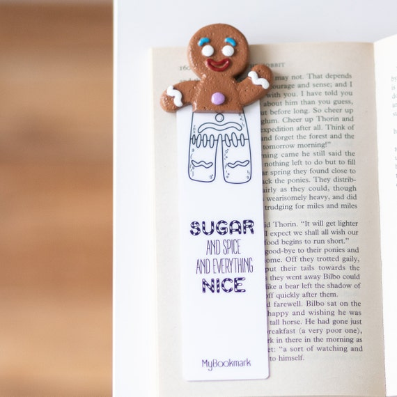 Gingerbread Unique Bookmark Mother's Day Custom Personalized Birthday Gift  for Her Teen Boy Girl Women Bookworm Gifts For Readers Housewife