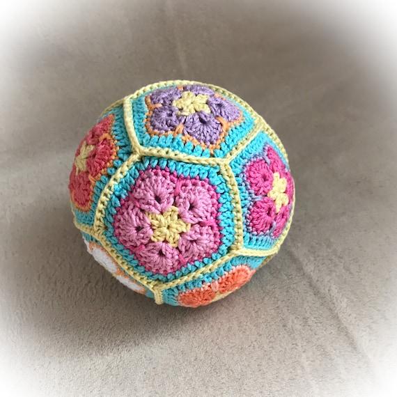 Häkeln Sie Sensorische Baby Ball Afrikanische Blume Ball Etsy