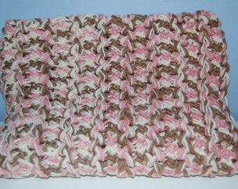 Neopolitan Hairpin Lace Blanket