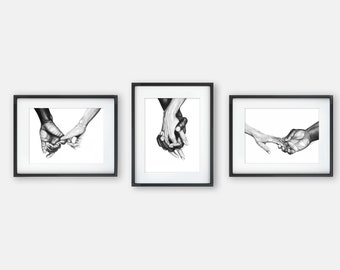 Set of 3 Prints | Never Let Go Series