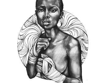 Grace Under Pressure - Original Drawing