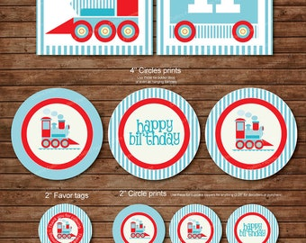 Choo Train Birthday Party DIY Printable Pack