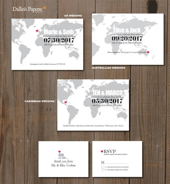 Destination Wedding Invitation Printables Map Invitation