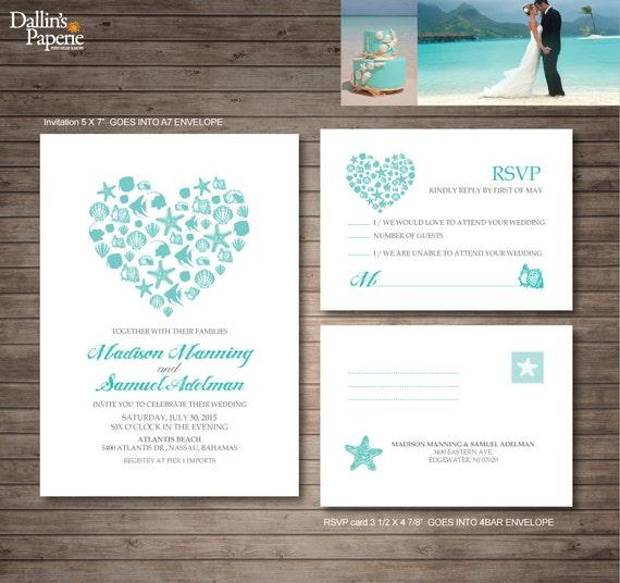 Zaproszenie Na ślub Plaży Eksploatacyjnymi ślubne W Plenerze Etsy