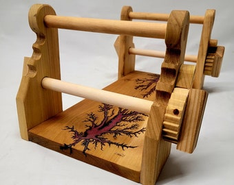 Fractal burnt tablet loom with Magenta resin great for beginners!  Free shipping