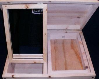 SCA split side jewelery mirror box