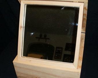 SCA 7 inch jewelery mirror box