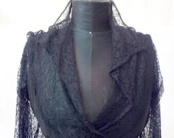 Sublime 1930 black lace dress // 1930 dress // 1930 lace // lace dress // black dress // Long dress