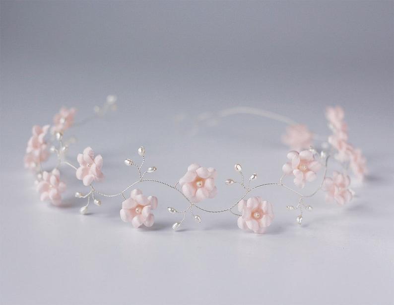 52 Headdress Pink wedding hair accessories