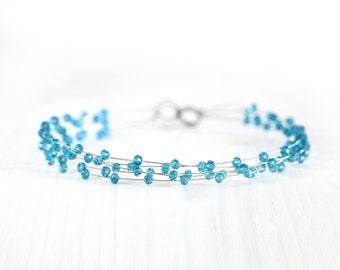 Blue head piece, Crystal head piece, Bridal headpiece, Wedding head piece crystals, Crystal wedding head piece, Wedding Hair Accessory 40