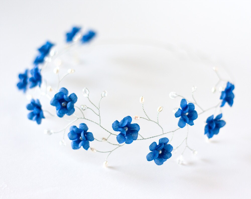 51 tiara blue wedding hair accessory floral tiara bridal etsy zoom izmirmasajfo
