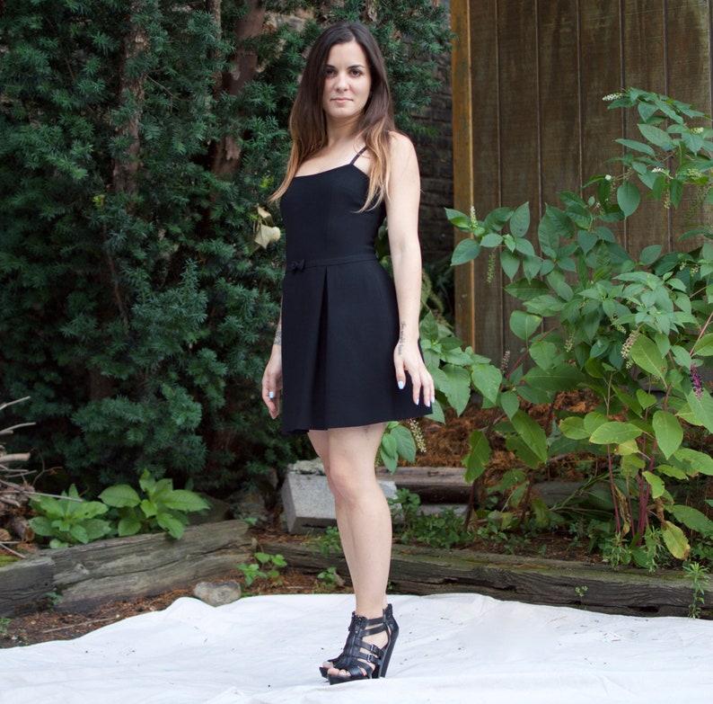 ccb14aad83c Vintage 90s Mini Dress Sexy Bebe Sleeveless Black Party