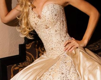 Bejeweled Fantasy Ball Gown, Corset and Skirt