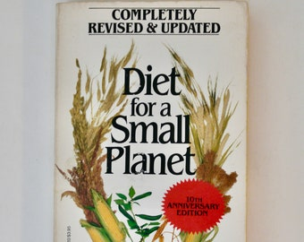 Diet for a Small Planet Frances Moore Lappé 1984 vintage paperback book nutrition vegetarian vegan cookbook sustainable living health food