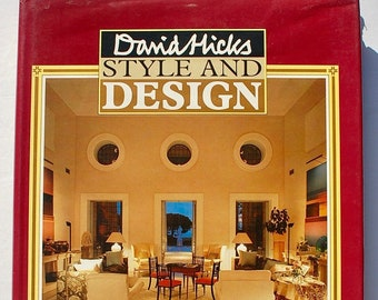 David Hicks Style and Design 1987 vintage modern interior decorating book first edition